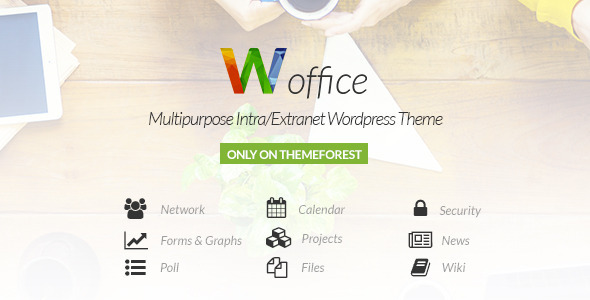 ThemeForest Woffice Intranet Extranet WordPress Theme 11671924