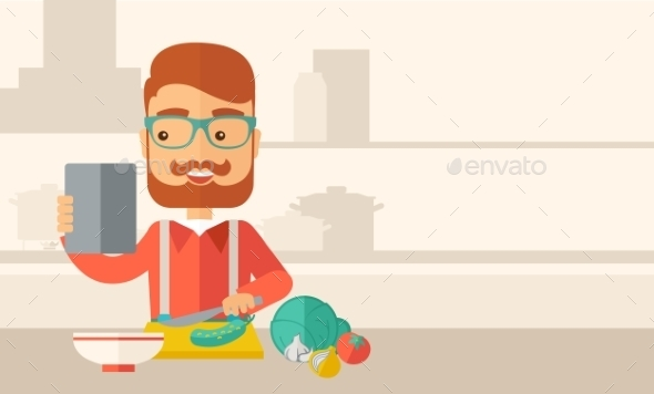 GraphicRiver Worker Cook with Menu 11812264