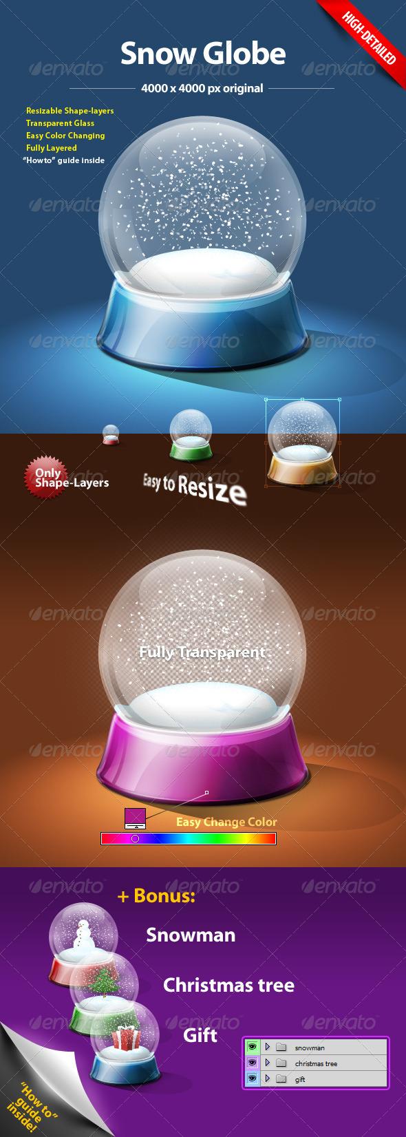 Snow Globe - Objects Illustrations