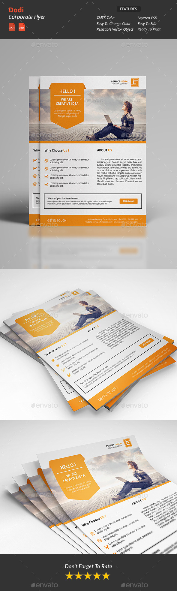 GraphicRiver Dodi Clean Corporate Flyer 11812733