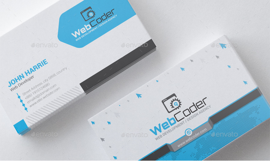 Web Coder | Web Design Agency Business Cards by ContestDesign ...