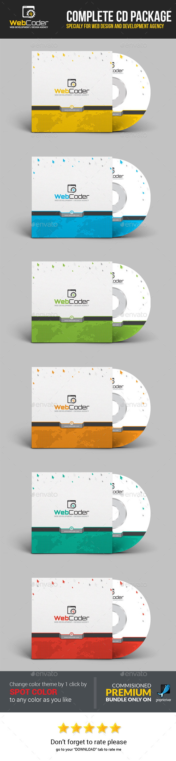 GraphicRiver Web Coder Web Design Agency CD Package 11812806
