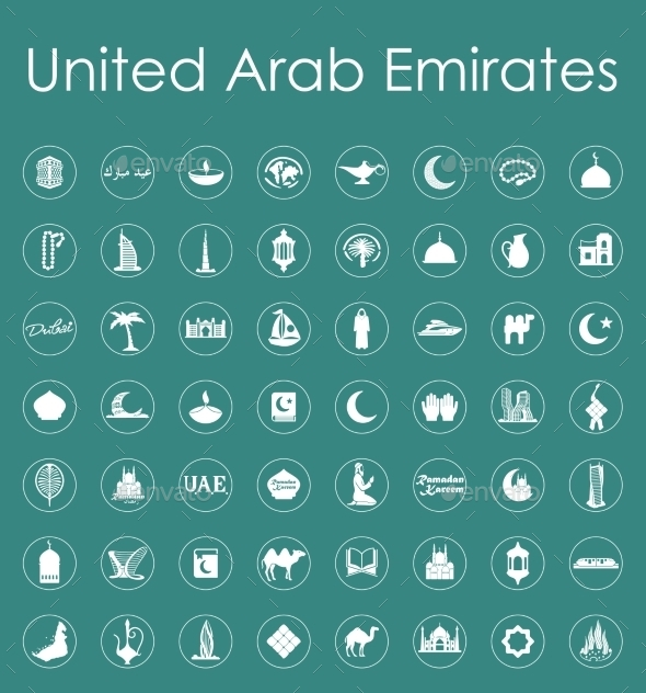 GraphicRiver Set Of United Arab Emirates Simple Icons 11813184