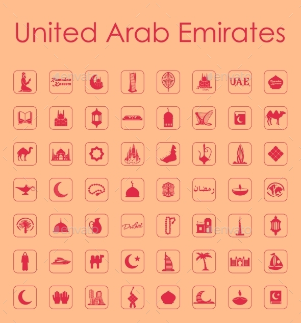 GraphicRiver Set Of United Arab Emirates Simple Icons 11813188