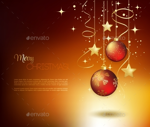 GraphicRiver Merry Christmas Gold Greeting Card 11813219