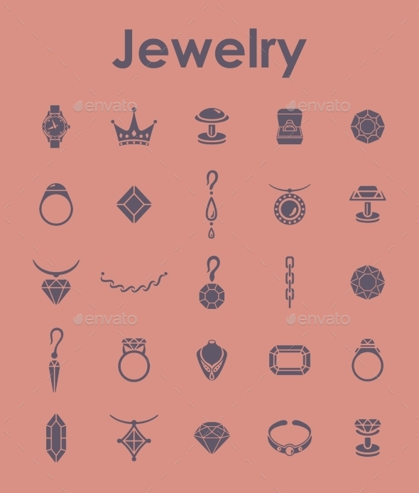 GraphicRiver Set Of Jewelry Simple Icons 11813226