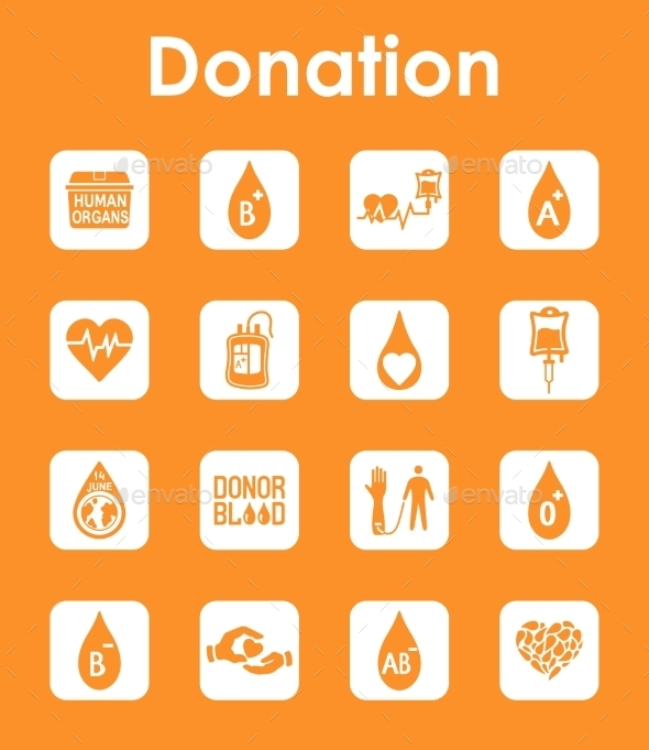 GraphicRiver Set Of Donation Simple Icons 11813232