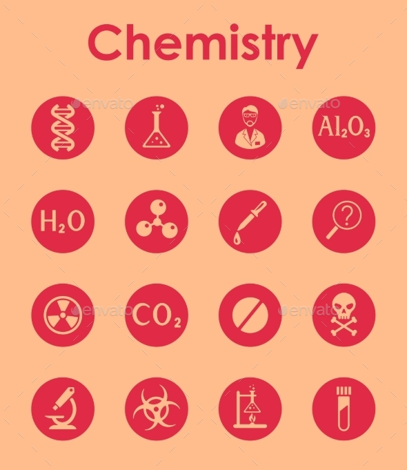 GraphicRiver Set Of Chemistry Simple Icons 11813235