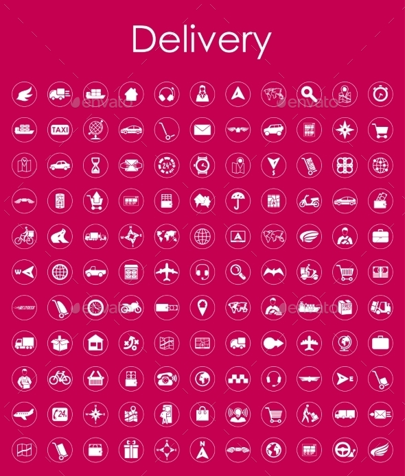 GraphicRiver Set Of Delivery Simple Icons 11813243