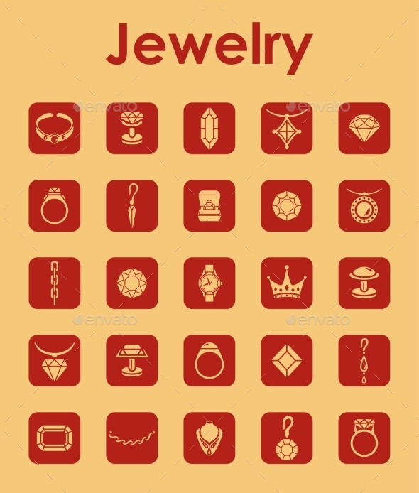 GraphicRiver Set Of Jewelry Simple Icons 11813244