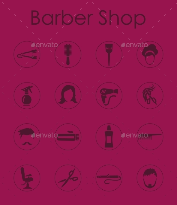 GraphicRiver Set Of Barbershop Simple Icons 11813246