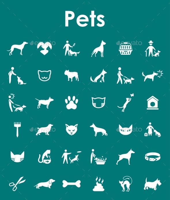 GraphicRiver Set Of Pets Simple Icons 11813249