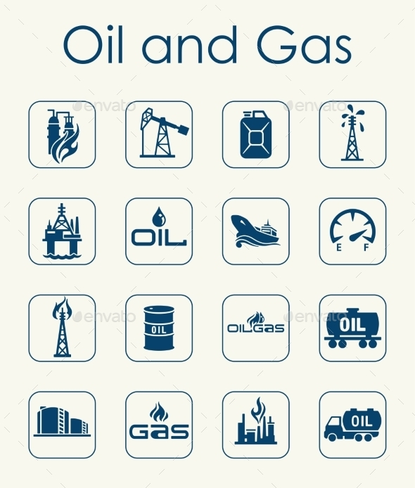 GraphicRiver Set Of Oil And Gas Simple Icons 11813250