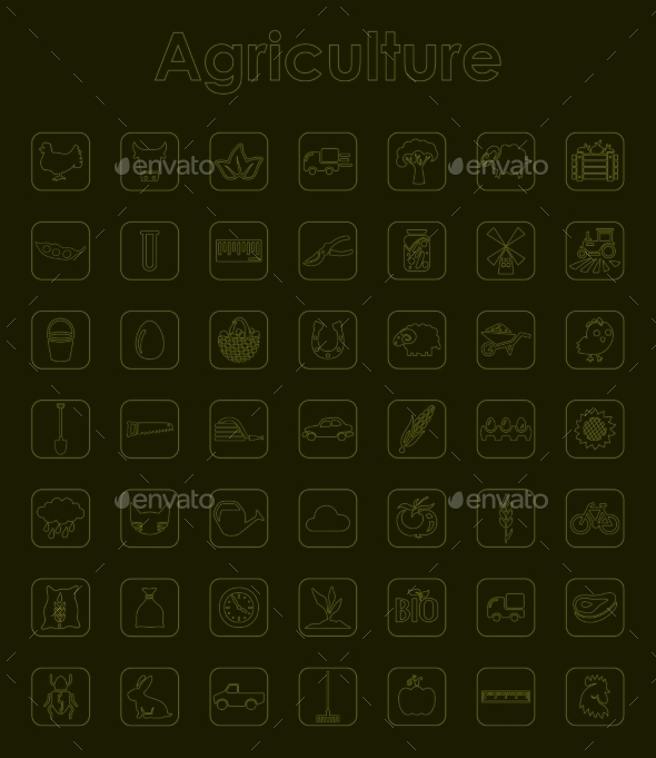 GraphicRiver Set Of Agriculture Simple Icons 11813252