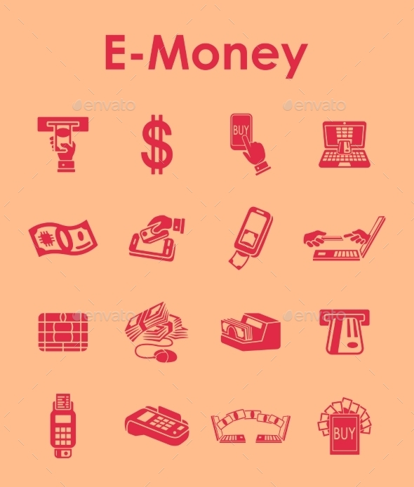 GraphicRiver Set Of E-money Simple Icons 11813291