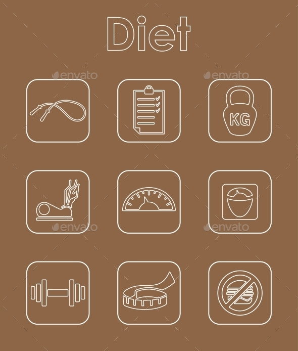 GraphicRiver Set Of Diet Simple Icons 11813297