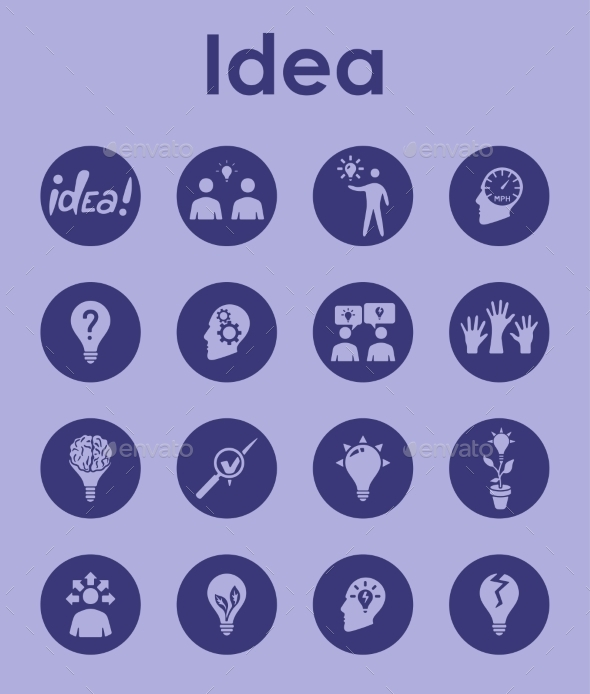 GraphicRiver Set Of Idea Simple Icons 11813304