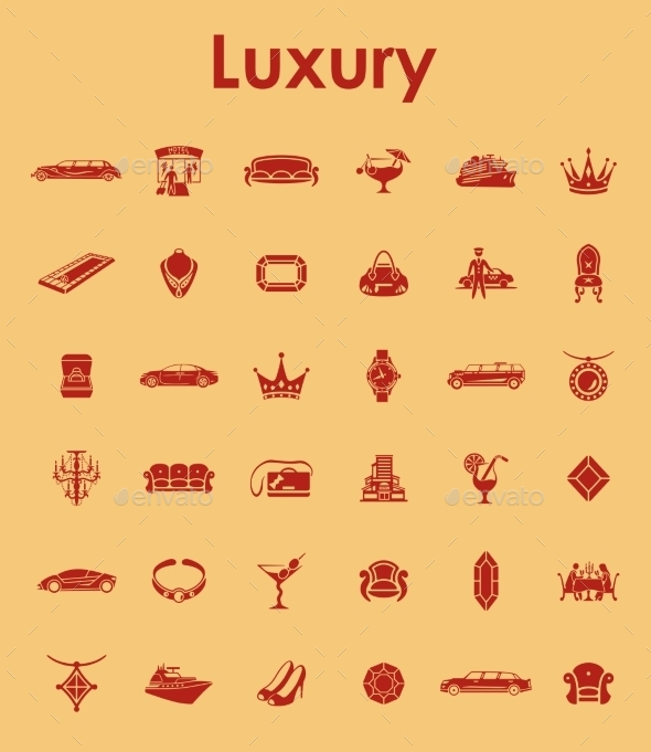 GraphicRiver Set Of Luxury Simple Icons 11813307