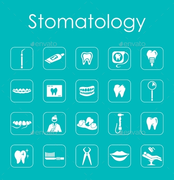 GraphicRiver Set Of Stomatology Simple Icons 11813315