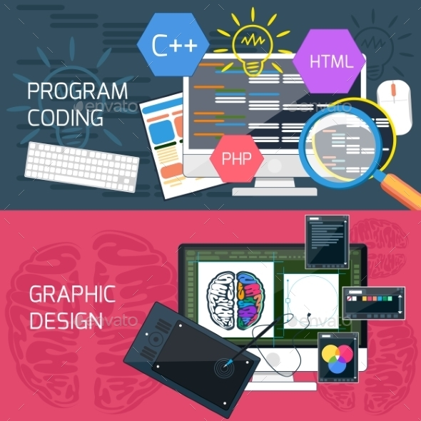 GraphicRiver Program Coding And Graphic Design 11813370