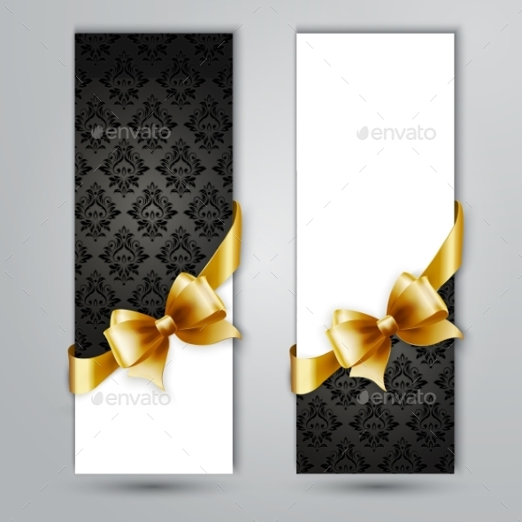 GraphicRiver Invitation Card with Gold Holiday Ribbon 11813394
