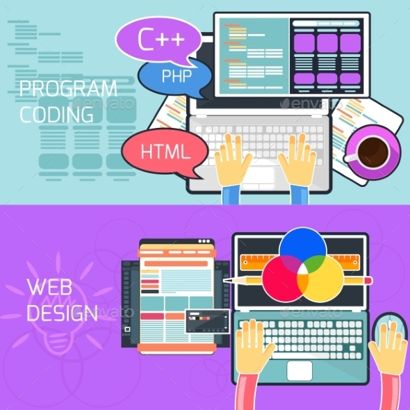 GraphicRiver Program Coding And Web Design 11813569