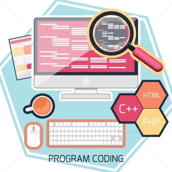 GraphicRiver Program Coding Concept 11813618
