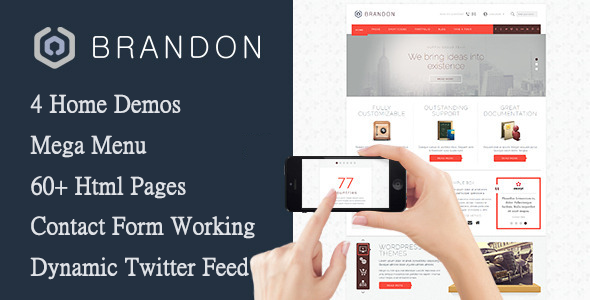 ThemeForest Brandon Responsive Multi-Purpose HTML Template 11752281