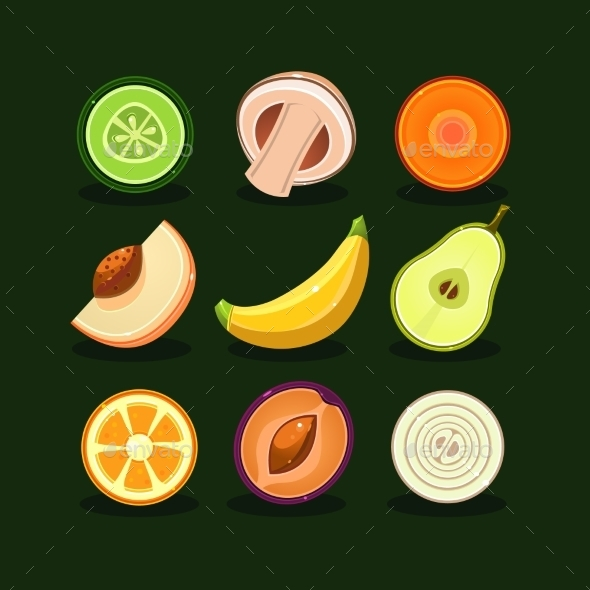 GraphicRiver Fruit And Vegetable Vector 11814068