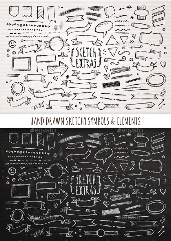 GraphicRiver Hand Drawn Sketchy Elements 11814097