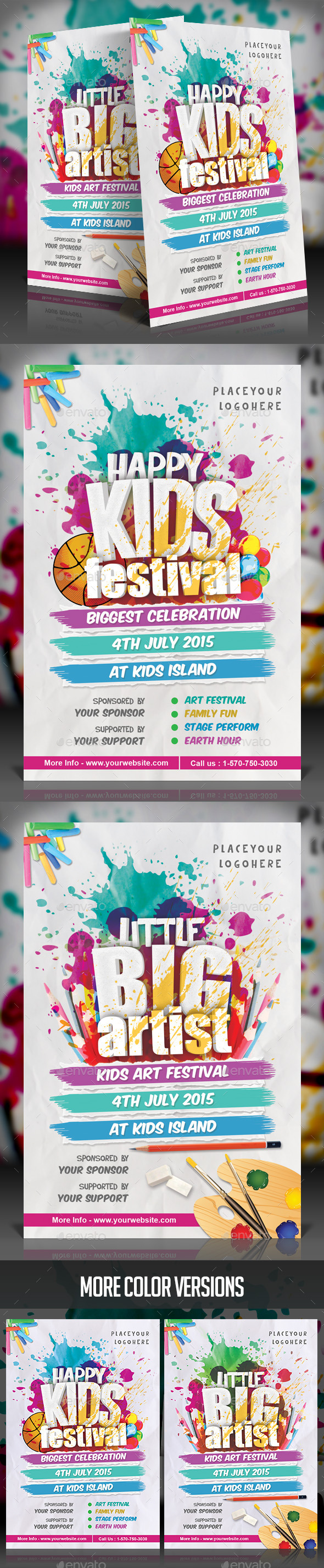 GraphicRiver Kids Festival Flyer 11814181