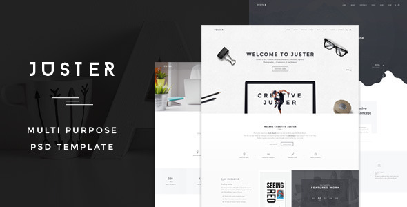ThemeForest Juster Minimal Multi-Purpose PSD Template 11814185