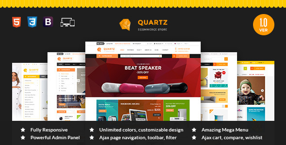 ThemeForest MT Quartz Magento Theme 11814209