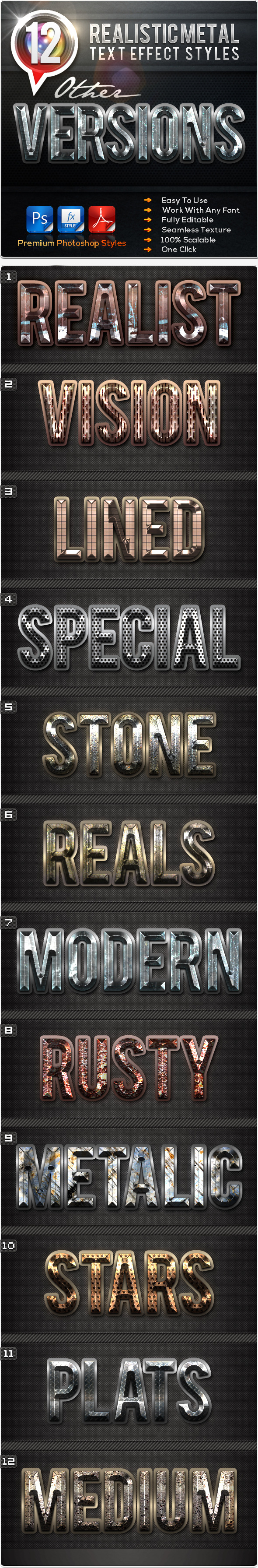 GraphicRiver 12 Realistic Metal Other Versions 11814311