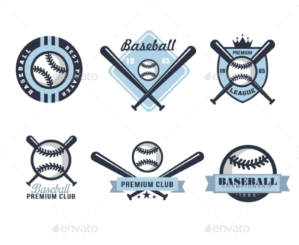 GraphicRiver Baseball Emblems Or Badges With Various Designs 11814456