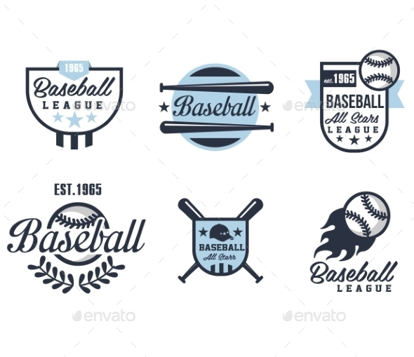GraphicRiver Baseball Emblems Or Badges With Various Designs 11814459