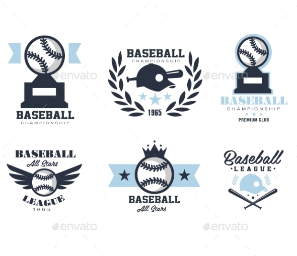 GraphicRiver Baseball Emblems Or Badges With Various Designs 11814461