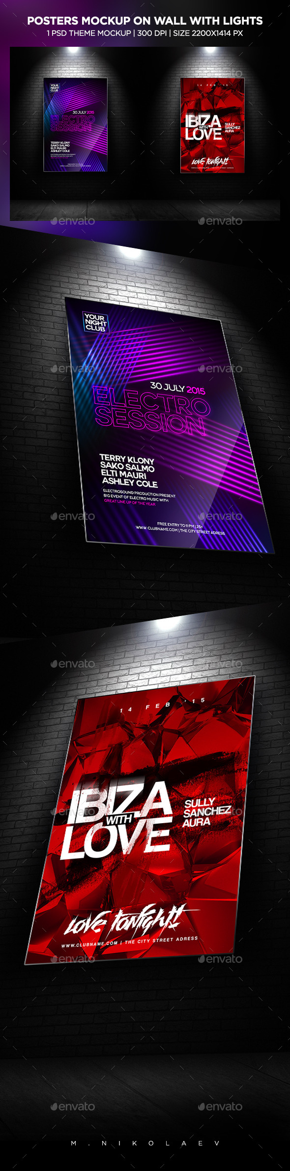 GraphicRiver Posters Mockup 11814570