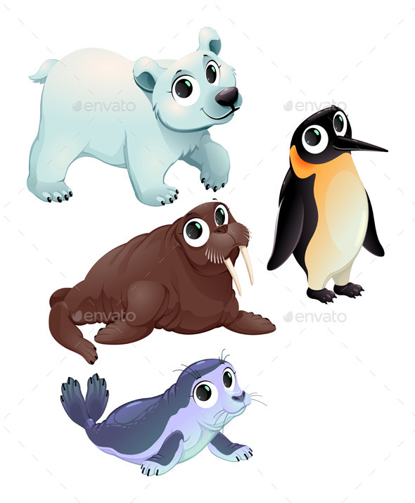 GraphicRiver Funny Polar Animals 11814795