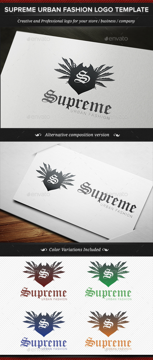 GraphicRiver Supreme Urban Fashion Logo Template 11814804