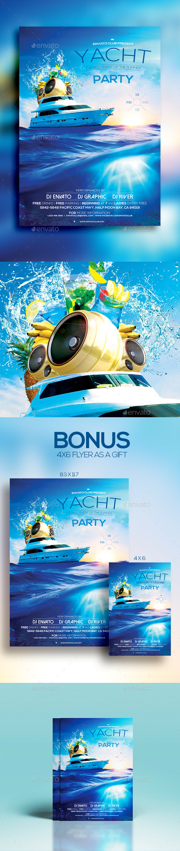 GraphicRiver Yacht Party 11814900