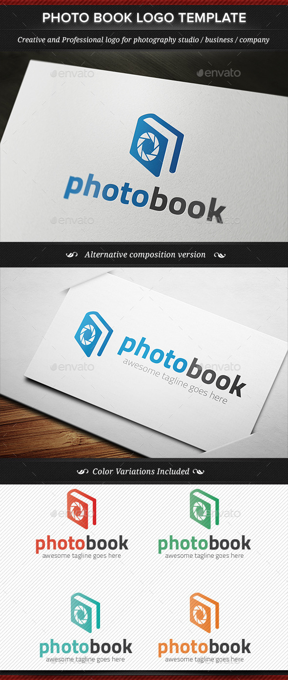 GraphicRiver Photo Book Photography Logo Template 11815378
