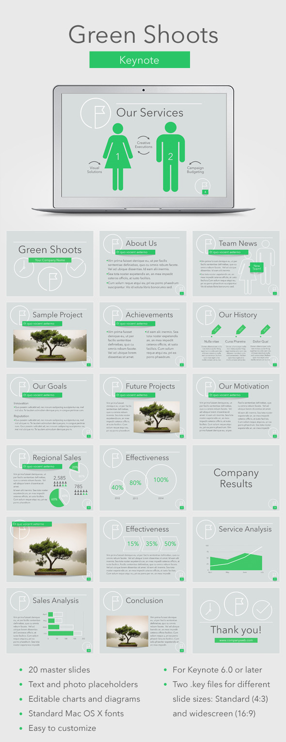 GraphicRiver Green Shoots Keynote Template 11815683