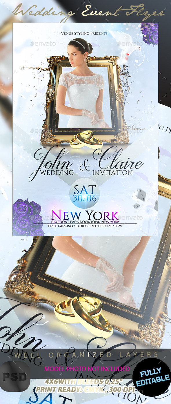 GraphicRiver Wedding Event Flyer 11815845