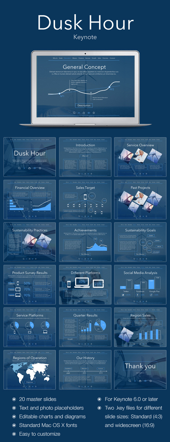 GraphicRiver Dusk Hour Keynote Template 11815886