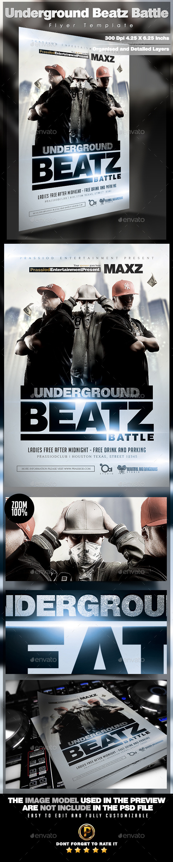 GraphicRiver Underground Beatz Battle Flyer Template 11816040