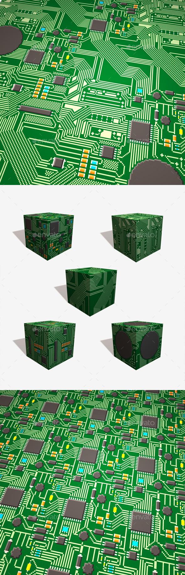 3DOcean 5 Circuit Board Pixel Textures 11816161