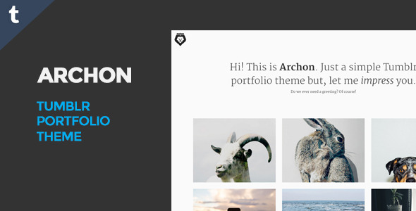 ThemeForest Archon Tumblr Portfolio Theme 11816252