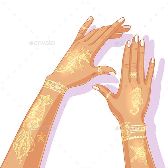 GraphicRiver Summer Flash Tattoo Design 11816253