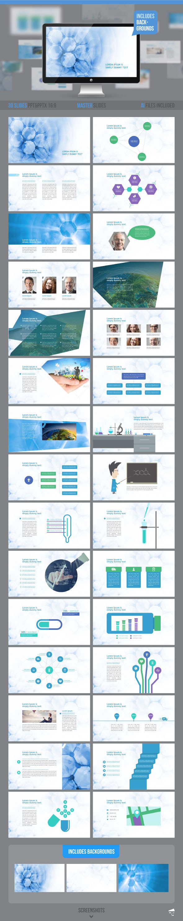 GraphicRiver Medical Professional Presentation 11816538